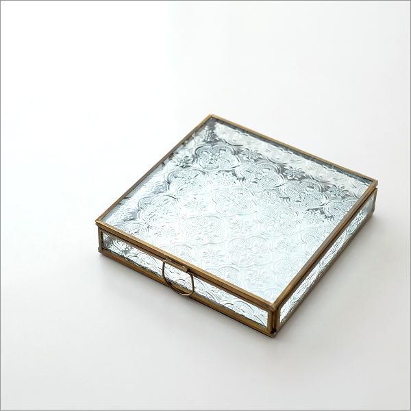 スクエアガラスケース エンボス