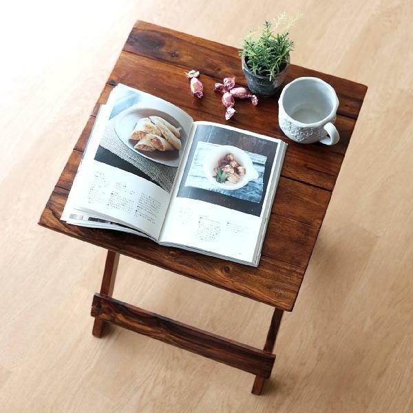 テーブル 折り畳みテーブル おしゃれ 木製 天然木 折りたたみ ウッド折り畳みテーブル 【送料無料】[kan6702]