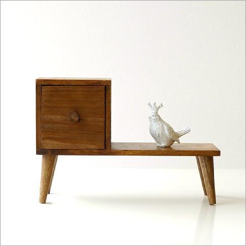 小物入れ 引き出し 木製 ミニチェスト 棚 飾り棚 チーク材 おしゃれ かわいい アジアン エスニック モダン レトロ アンティーク チーク棚付き引き出しボックス