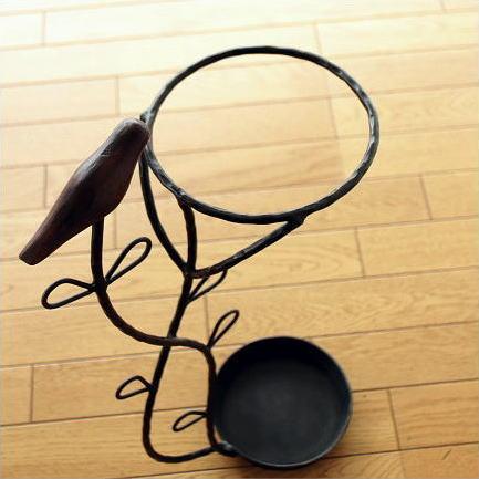 傘立て アンティーク デザイン おしゃれ かわいい アイアン傘立て ウッドバード