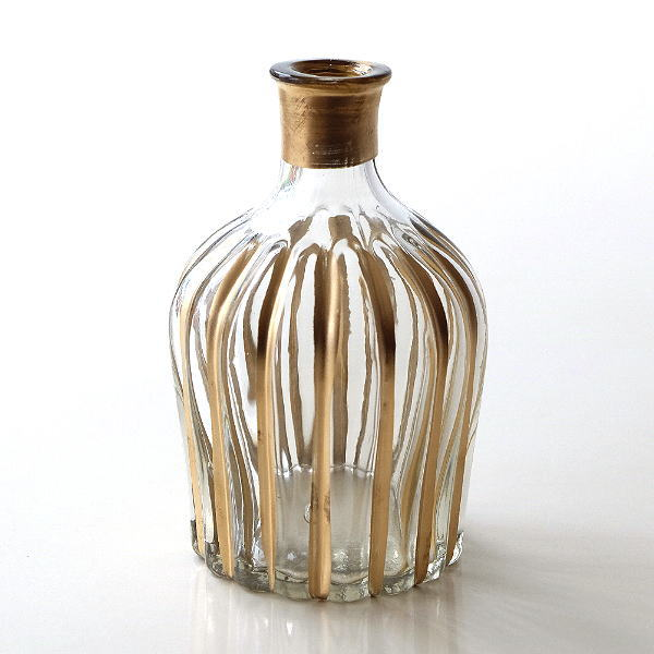 一輪挿し おしゃれ 花瓶 ガラス フラワーベース かわいい インテリア 北欧 モダン シンプル スタイリッシュ 瓶 花差し デザイン レトロなガラスベースB [kan7732]