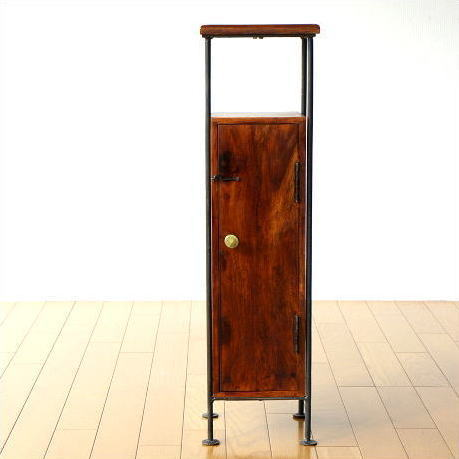 キャビネット スリム サイドテーブル 木製 すきま収納 幅20cm 収納ボックス 無垢材 天然木 シーシャムスリムウッドキャビネット【送料無料】