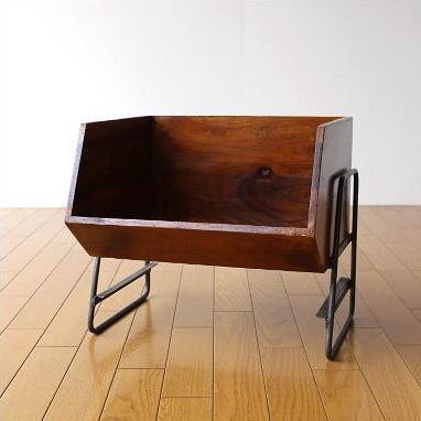 収納ボックス スタッキング おしゃれ 木製 アイアン 天然木 積み重ね シーシャムボックススタンド 【送料無料】 [kan8297]