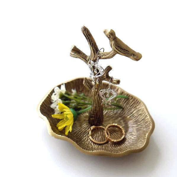 アクセサリースタンド おしゃれ 収納 ツリー 木の枝 真鍮 アンティーク レトロ ゴールド ブラスアクセサリースタンド ツリー [kan8491]