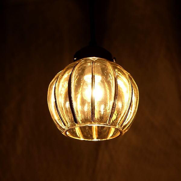 ペンダントライト ガラス おしゃれ アンティーク レトロ 吊り下げランプ 天井照明 シェード ガラスのペンダントライト フラワーB [kan9900]