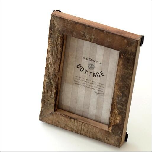 フォトフレーム 写真立て アンティーク 木製 壁掛け レトロ ナチュラル シャビーシック おしゃれ 木 ウッド L判 L版 古木 アーミーウッドフォトフレーム S