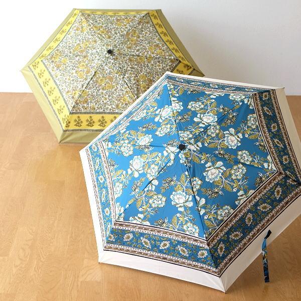 折りたたみ傘 晴雨兼用 雨晴兼用 雨傘 日傘 UVカット レディース おしゃれ かわいい 花柄 エスニック 更紗柄折りたたみ傘 2タイプ [kan9982]