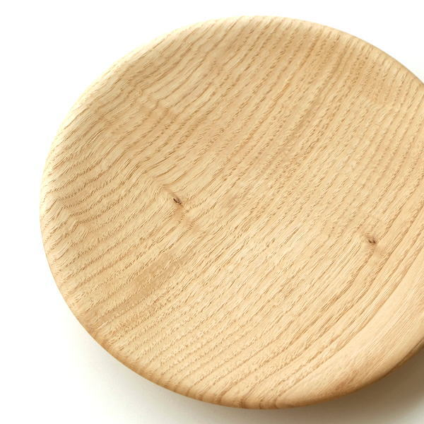 皿 プレート トレイ 木製 おしゃれ 栗の木 天然木 日本製 木工 クリの木プレート 240 [kch0568]