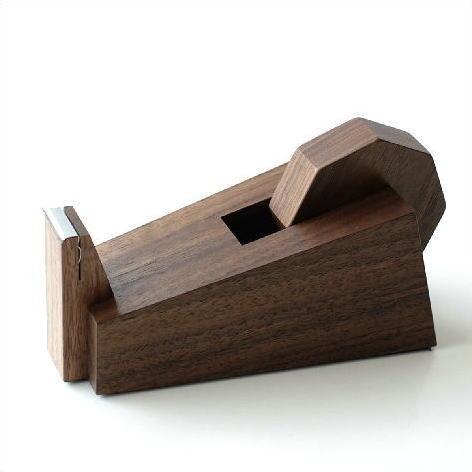テープカッター 木製 おしゃれ ウォールナット セロテープカッター セロハンテープカッター wedge テープカッター [kch4074]