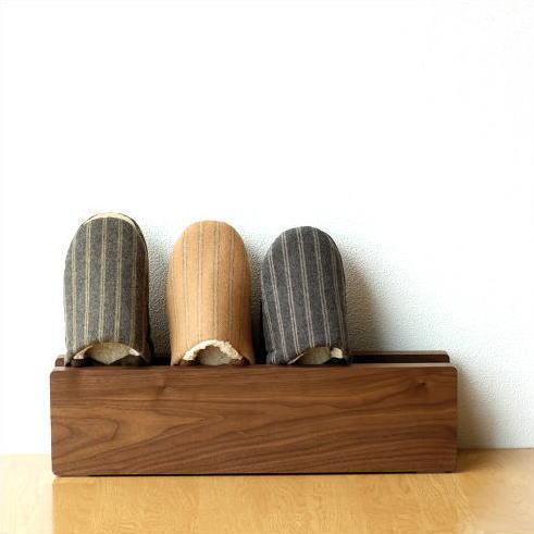 スリッパラック 木製 おしゃれ スリム 壁掛け スリッパ立て ウッドスリッパラック [kch5053]
