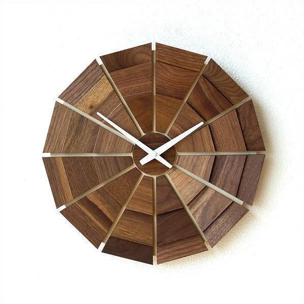 ウッド壁掛け時計SUN L 【送料無料】 [kch5844]