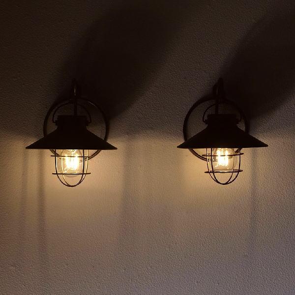 壁掛ソーラーガーデンライト2カラー [kkm1096]