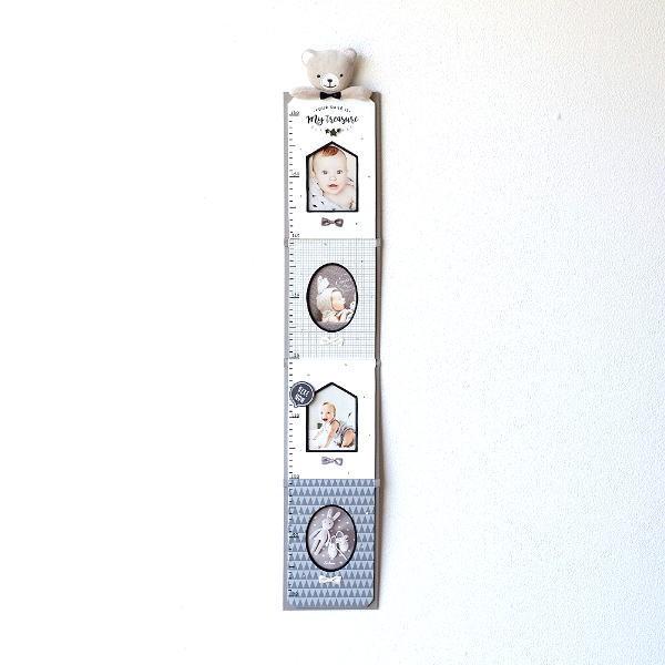 フォトフレーム 身長計 壁掛け ベビー 赤ちゃん 子供 幼児 写真 成長記録 かわいい 可愛い 出産祝い ギフト プレゼント 贈り物 ベビー身長計フレーム モノトーン [kkm1186]