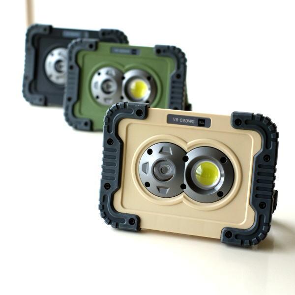 LEDライト ワークライト 電池式 屋外 屋内 磁石 マグネット 壁掛け スタンド 手持ち 防水 防塵 耐衝撃 軽量 防災 小型 ポータブルLEDワークライト3カラー [kkm2685]