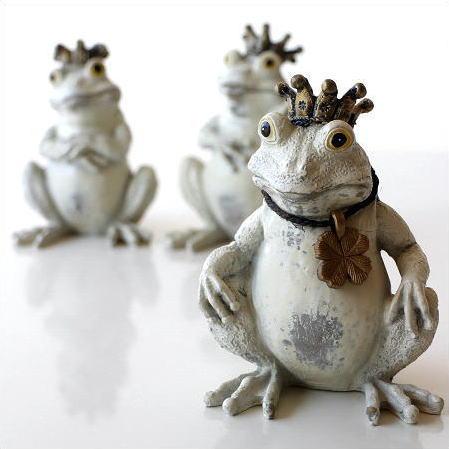 かえる 置物 カエル 雑貨 ガーデンオブジェ インテリアオブジェ ガーデン置物 フロッグ3兄弟 [kkm7667]