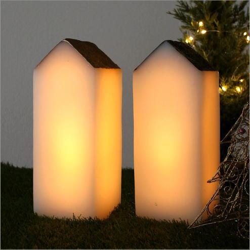LEDライト インテリアライト おうち デザイン かわいい 照明 北欧 ライトスタンド LEDライトハウス 2カラー