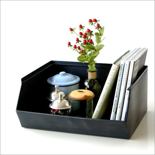 収納ボックス 卓上 ラック 整理ボックス 小物入れ 小物収納 トレイ 机上ラック 収納ラック おしゃれ インダストリアル BOX 雑貨 アイアンボックストレー