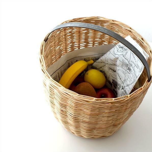かご カゴ ラタン バスケット 編みかご キッチン リビング 収納 かわいい ナチュラル おしゃれ ラタンフラワーバスケットサークル [ksh4666]