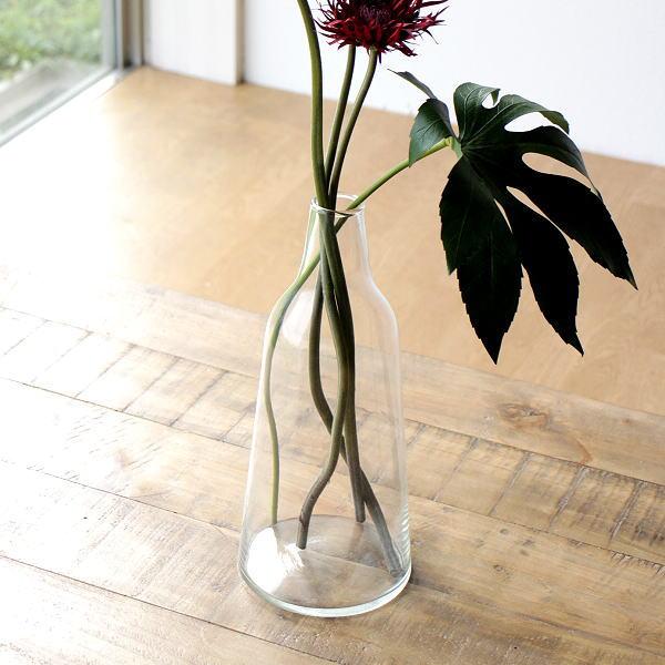 花瓶 フラワーベース ガラス シンプル おしゃれ クリア 透明 花器 リューズガラスのフラワーベース スティーブ [ksh8663]