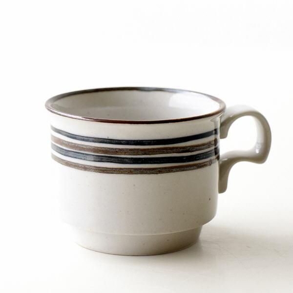 マグカップ 陶器 おしゃれ ボーダー かわいい シンプル 小さい 美濃焼 日本製 カフェ 和風 モダン コーヒーカップ 和食器 ボーダーマグ [ksn6820]
