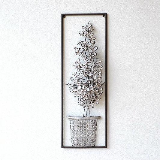 壁飾り アイアン アンティーク モダン アートパネル ウォールデコレーション おしゃれ 壁掛け インテリア 花 ウォールアート アイアンの壁飾り ホワイトフラワー