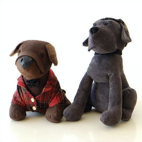 ドアストッパー ぬいぐるみ 室内 布製 おしゃれ かわいい いぬ イヌ 犬 アニマル オブジェ 戸当たりソフトなドアストッパーC 2タイプ [kwb2435]