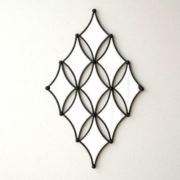 ウォールデザインミラーの壁飾り 【送料無料】 [kwb4511]