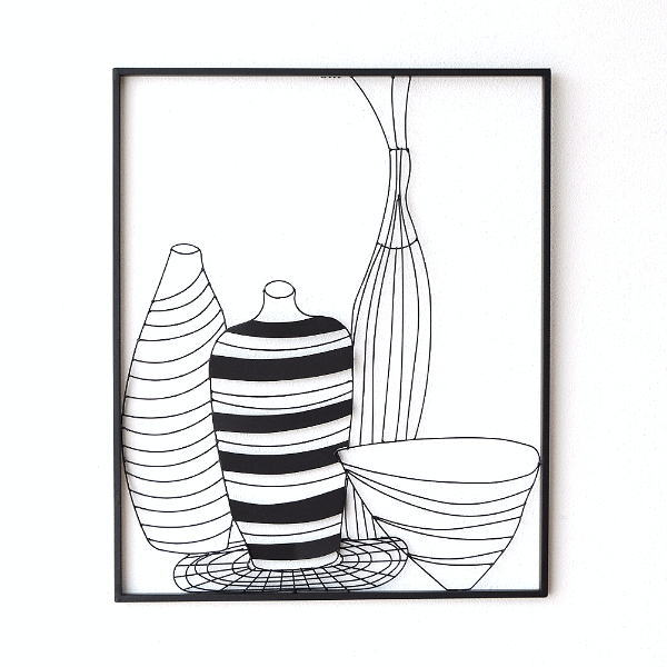 アイアンの壁飾り 花瓶A 【送料無料】 [kwb4529]