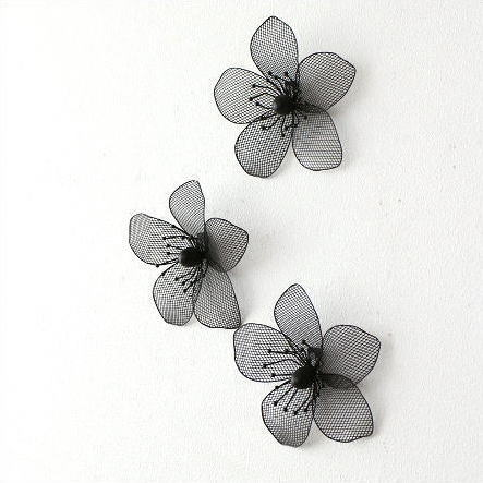 ウォールデコレーション アイアン 壁飾り 壁掛け インテリア ウォールデコ 花 ウォールフラワーアクセント3セット
