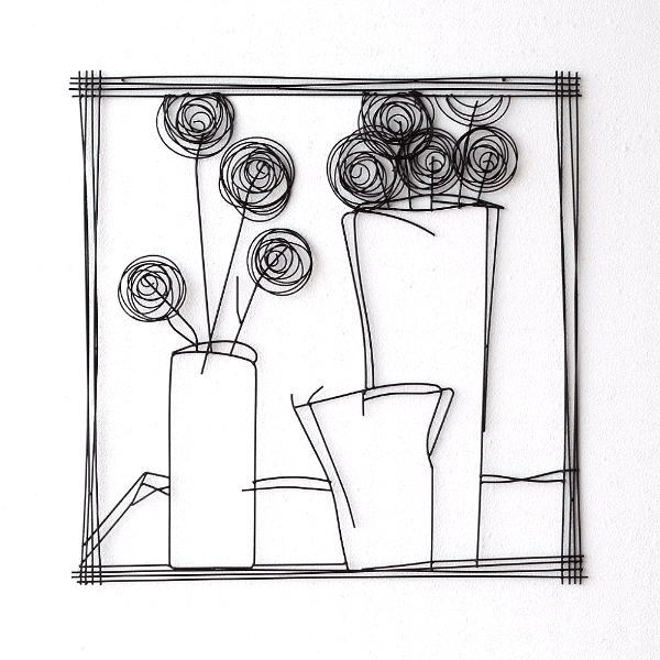 アイアンの壁飾り 花瓶B 【送料無料】 [kwb5869]
