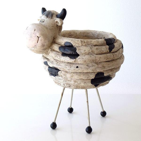 のんびり牛の鉢カバー 【送料無料】 [kwb7035]