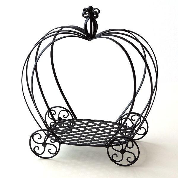 花台 アイアン フラワースタンド 鉢スタンド 鉢置き台 かぼちゃ かわいい おしゃれ プランターラック プランタースタンド パンプキンプラントホルダー [kwb9337]