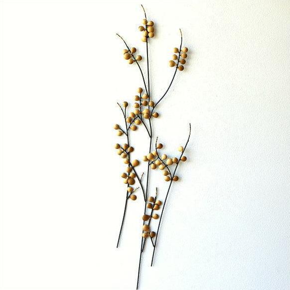壁飾り アイアン アートパネル 植物 枝 木 ウォールデコ 壁掛け インテリア おしゃれ 和風 モダン かわいい カフェ 玄関 アイアンの壁飾り ゴールドリーフ