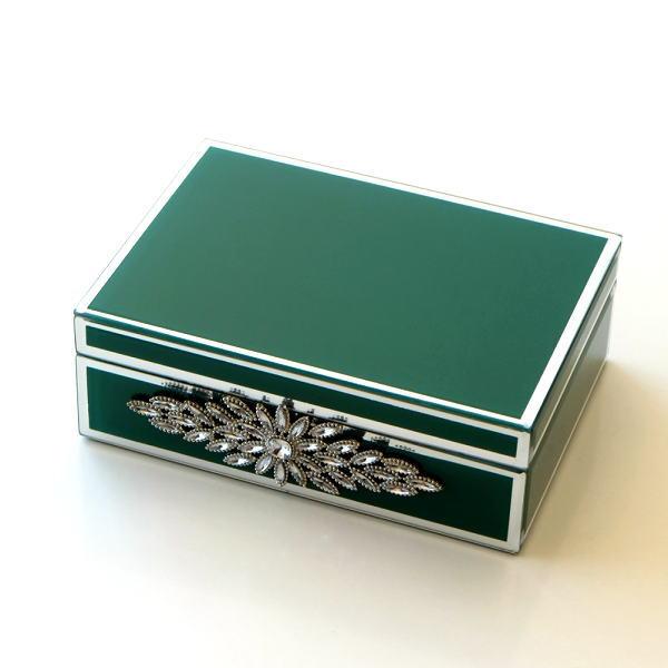 アクセサリーケース ガラス 小物入れ ふた付き 蓋つき ボックス おしゃれ アンティーク 収納ボックス ジュエリーボックス ビジュー付きガラスBOX [kwt0867]