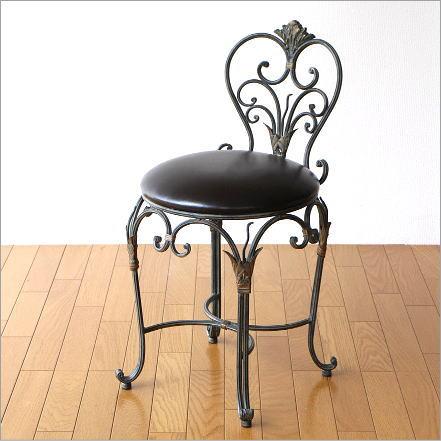 椅子 いす イス おしゃれ チェアー チェア 一人用 一人掛け アイアンのエレガントチェアー【送料無料】