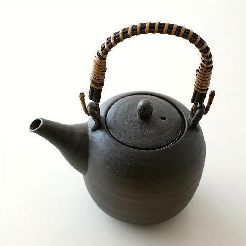 土瓶 急須 おしゃれ 美濃焼き 日本製 黒備前土瓶 [kyt1050]