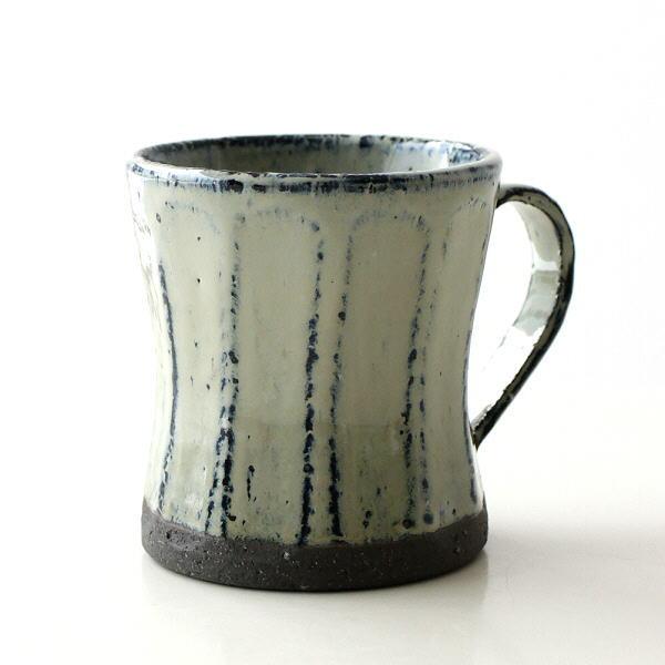 マグカップ おしゃれ 陶器 大きい 日本製 可愛い コップ シンプル アンティーク マグ 面取り 美濃焼 焼き物 和食器 面取りマグ フロスティ [kyt2667]