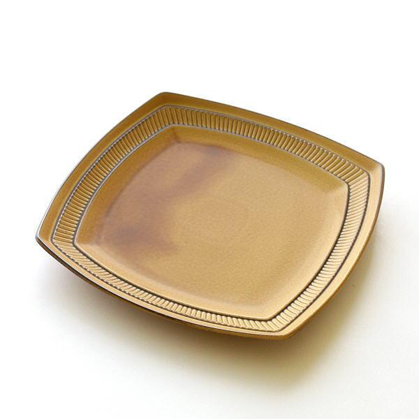 お皿 プレート 陶器 おしゃれ かわいい 美濃焼 日本製 北欧 スクエア型 中皿 焼き物 ビコランチスクエアプレート [kyt3004]
