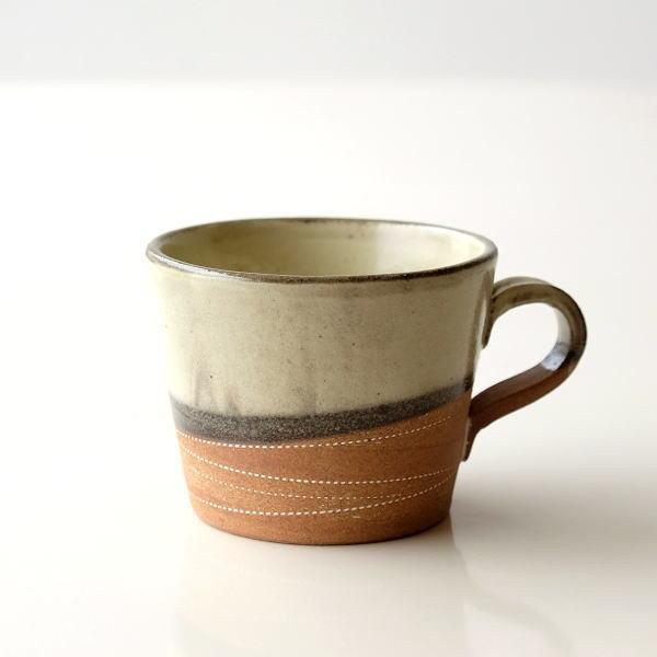 マグカップ 陶器 かわいい おしゃれ シンプル 和 美濃焼 日本製 カフェ 和風 モダン 渋い デザイン 焼き物 陶芸 コーヒーカップ 和食器 ルレット マグ [kyt4638]