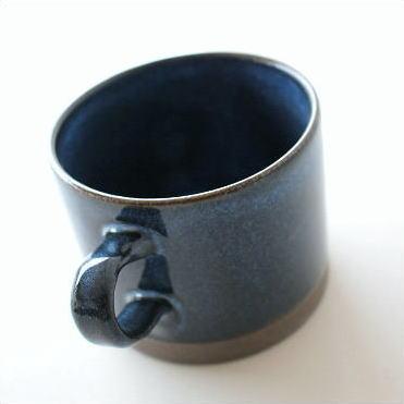 マグカップ 陶器 おしゃれ 和モダン 美濃焼き 日本製 マグカップ ディープブルー [kyt4955]