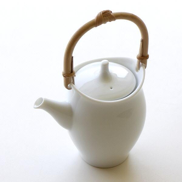 土瓶 美濃焼き 陶器 おしゃれ 急須 白 茶こし付き きゅうす ティーポット 日本製 和食器 焼き物 白磁土瓶 カノン [kyt5119]