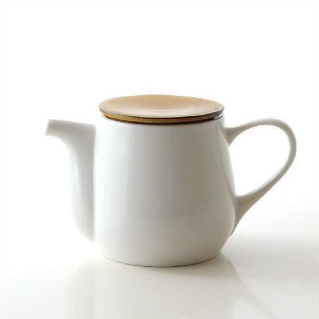 ティーポット 白 陶器 おしゃれ 茶こし付き 急須 和風 洋風 モダン 無地 かわいい シンプル デザイン 美濃焼 日本製 カフェ 紅茶 陶芸 焼き物 ビコポット [kyt5263]
