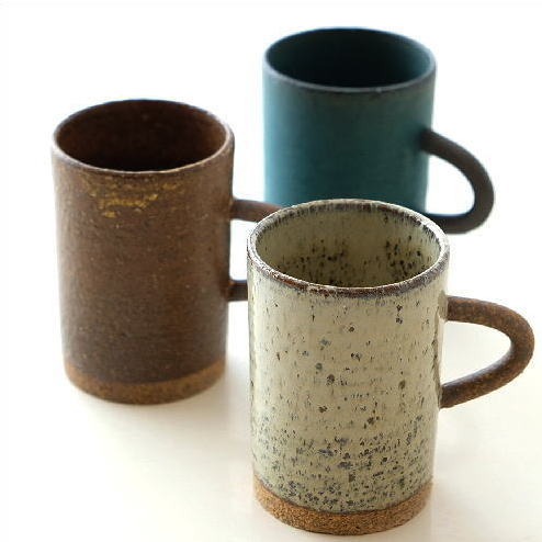マグカップ 陶器 かわいい おしゃれ 和 シンプル 美濃焼 日本製 カフェ スリム 和風 モダン 渋い 焼き物 陶芸 コーヒーカップ 和食器 オアシスマグ 3カラー