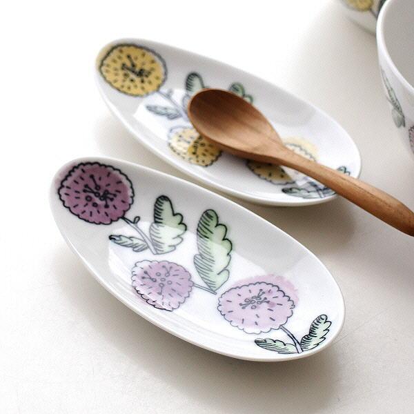 ミニ皿 お皿 スプーンレスト 小皿 フラワー 陶器 おしゃれ かわいい デザート皿 カフェ デザイン ナチュラル フラワーミニ皿兼スプーンレスト 2カラー [kyt5768]