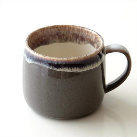 マグカップ 陶器 おしゃれ 和 シンプル 美濃焼 日本製 カフェ 和風 モダン 渋い デザイン 釉薬 焼き物 陶芸 コーヒーカップ 和食器 レトロマグ メルティブラウン [kyt6393]
