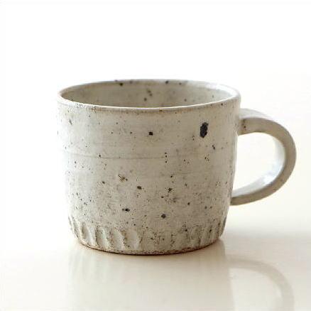 マグカップ 陶器 おしゃれ 和 シンプル かわいい 美濃焼 日本製 カフェ 和風 モダン 渋い デザイン 焼き物 陶芸 コーヒーカップ 和食器 ろくろ粉引珈琲マグ [kyt7849]