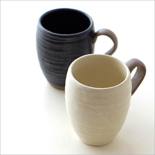 マグカップ 陶器 かわいい おしゃれ 和モダン シンプル 美濃焼 日本製 カフェ スリム 和風 無地 焼き物 陶芸 コーヒーカップ 和食器 ラインタマゴマグ 2カラー [kyt8253]