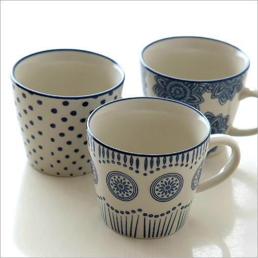 マグカップ 陶器 かわいい おしゃれ カフェ モダン デザイン コーヒーカップ コーヒーマグ インテリア 雑貨 ハンドスタンプマグ 3タイプ