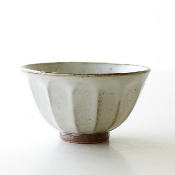 ごはん茶碗 ご飯茶碗 おしゃれ 美濃焼 陶器 和食器 和風 焼き物 日本製 面取り飯碗 粉引 [kyt9966]