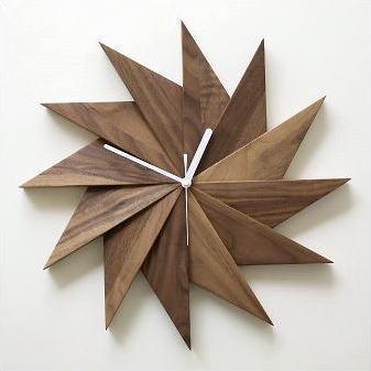 掛け時計 おしゃれ 木製 ウッドウォールクロック ウィンドウ 【送料無料】 [map1614]